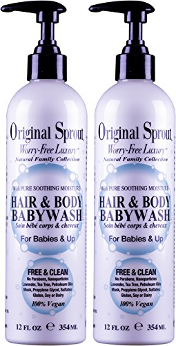 Original Little Sprout Hair & Body Wash 2N1 12 oz (2 pack)