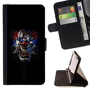 Momo Phone Case / Flip Funda de Cuero Case Cover - Scary Spooky payaso Negro de Halloween - Sony Xperia Z2 D6502