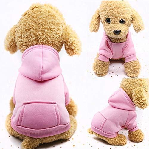 Outdoor f/ür Kleine Hunde mit Tasche Teddy Idepet Idefair Hunde-Kapuzenpullover einfarbig Chihuahua MEHRWEG Pudel f/ür Herbst und Winter Welpen Schnauzer Baumwolle