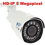 GW Security 5MP Sony IMX326 Exmor R Starvis Technology 2.8-12mm Varifocal Lens Outdoor Indoor PoE 1920P Back-illuminated Bullet H.265 IP Camera 130FT IR Distance ( White)
