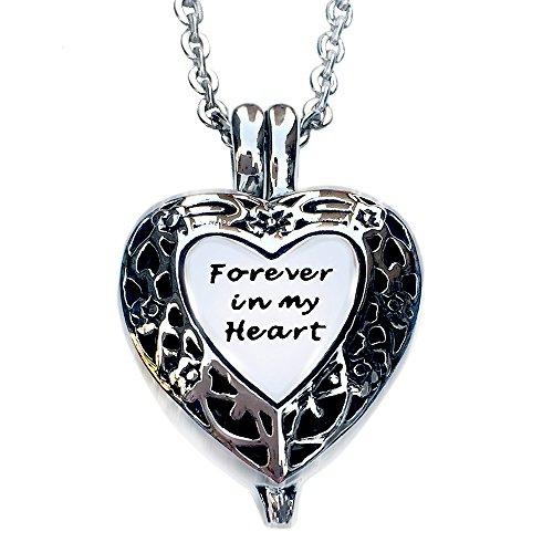 "Urn Locket-Memorial Urn Necklace Pendant Ashes Keepsake-""..."