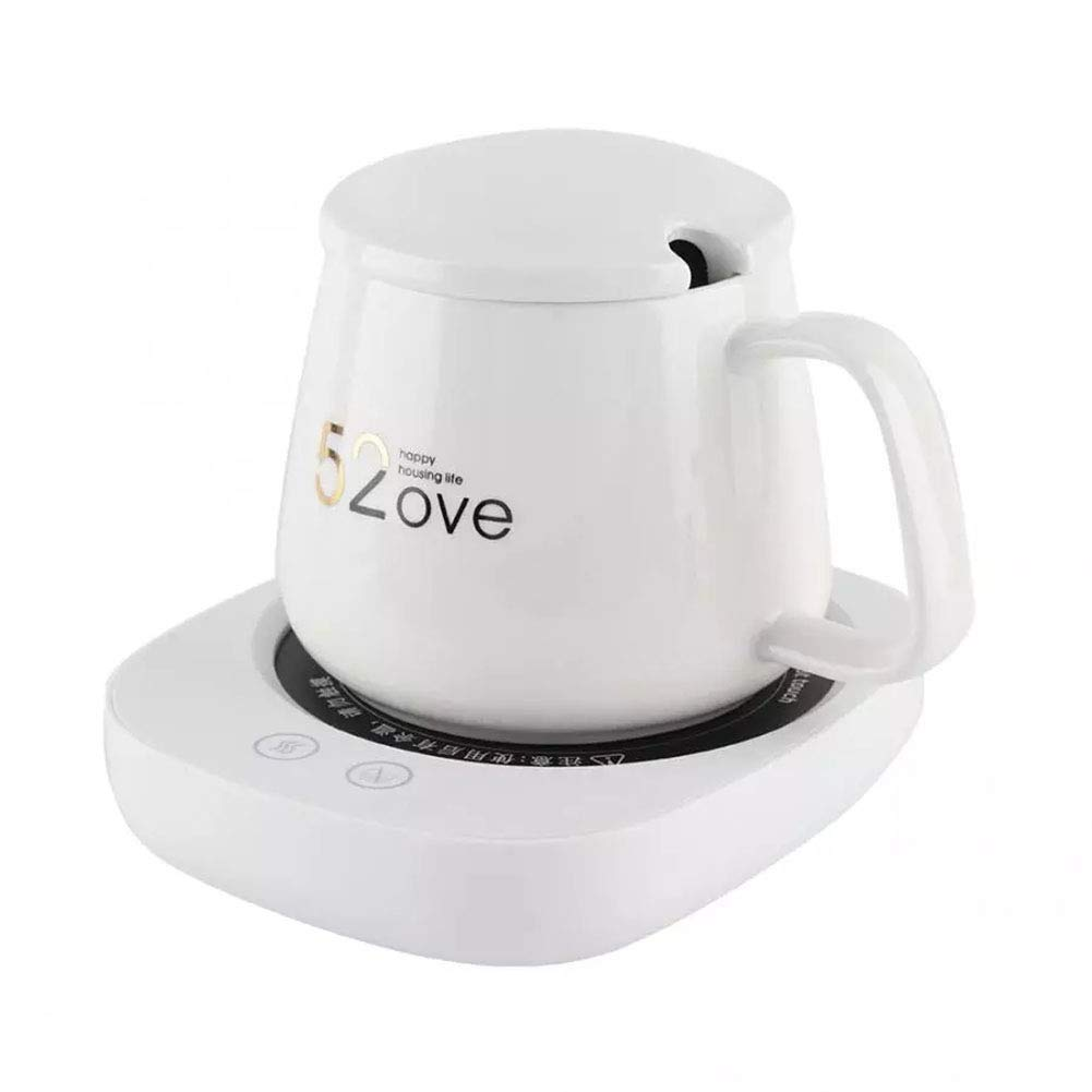 SHUHAO Coffee Mug Warmer, Can Maintain Temperature at 131F °F / 55 °C, Desktop Beverage Warmer, Safe for Office and Home Coffee Insulation