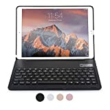iPad Pro 10.5 Keyboard case, COOPER NOTEKEE F8S Backlit LED Bluetooth Wireless Rechargeable Keyboard Portable Laptop Macbook Clamshell Clamcase Cover with 7 Backlight Colors (Black)