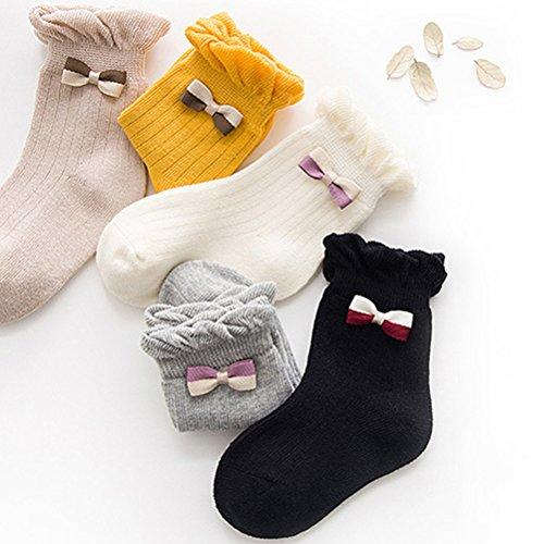 JIEEN Baby Girls Cute Cartoon Socks Non-skid Lace Colorful Sports Ankle Crew Socks Princess