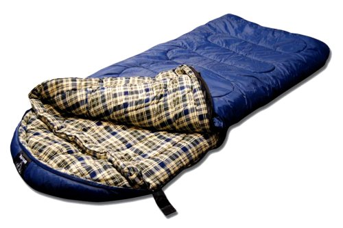 Grizzly -25 Degree RipStop Sleeping Bag (Blue), Outdoor Stuffs