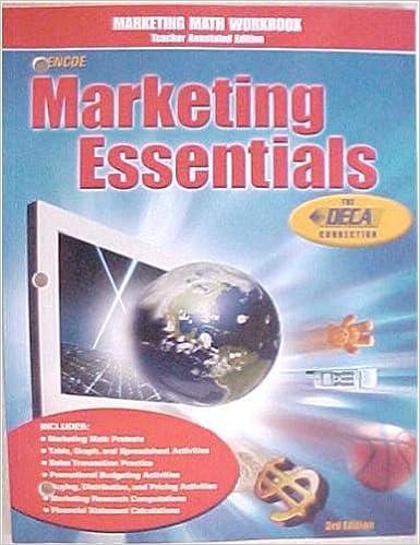 Marketing Math Workbook Teacher Annotated Edition 3rd Edition ...