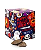 #3: Max Brenner's Halloween Sparkles: Milk Chocolate Thins with Popping Candy, Twin Pack Special, Kosher, Chalav Yisrael Weight 4.23 Ounces, 120 Grams