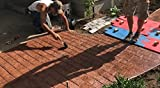 Worn Brick Running Bond Concrete Stamp Single by