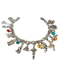 Little Wizard Inspired Charm Bracelet, Fashion Jewelry for Movie Fans
