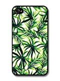 Best Cases For Iphone 4s In Greens - Tropical Palm Print Pattern in Cool Green Design Review