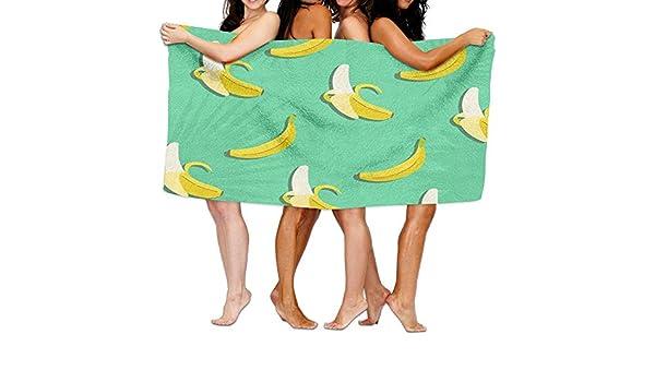 aymitao arte Banana Frutas Toalla de baño cómodo manopla de baño absorbente hoja: Amazon.es: Hogar