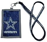 NFL Dallas Cowboys Beaded Lanyard with Nylon Wallet