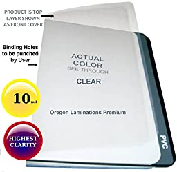 10 Mil Clear Plastic Binding Covers 8-3/4 x 11-1/4 Report Cover Sheets 2 Round Corners