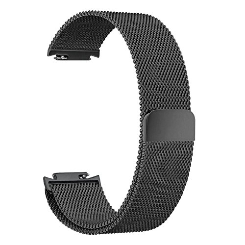 Feicuan 14mm Stainless Steel Watchbands, Magnetic Loop Clasp Replacement SmartWatch Straps Wristband for Asus ZenWatch 3 -Black by Feicuan