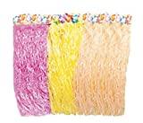 FX Pack 3 Luau Costume Party Hula Skirts - Kids Sizes Adjustable Pink Yellow Tan