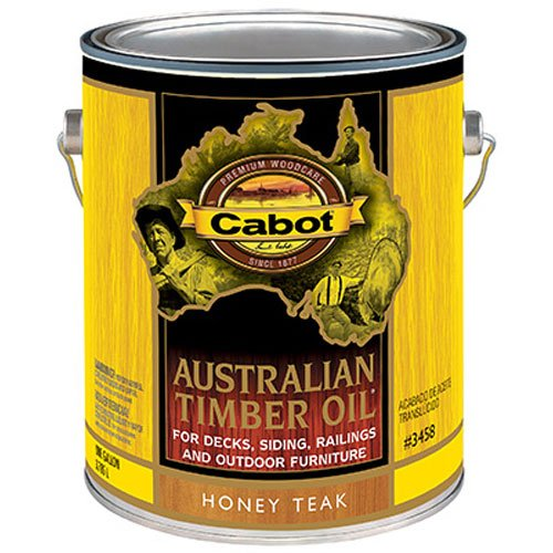 Oil Australian Cabot Timber (Cabot Stains 3458 Australian Timber Oil Penetrating Formula, 1 gallon, Honey Teak)