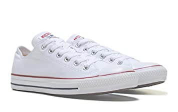 Converse Unisex Chuck Taylor All Star Low Top Optical White Sneakers  12  Men  14