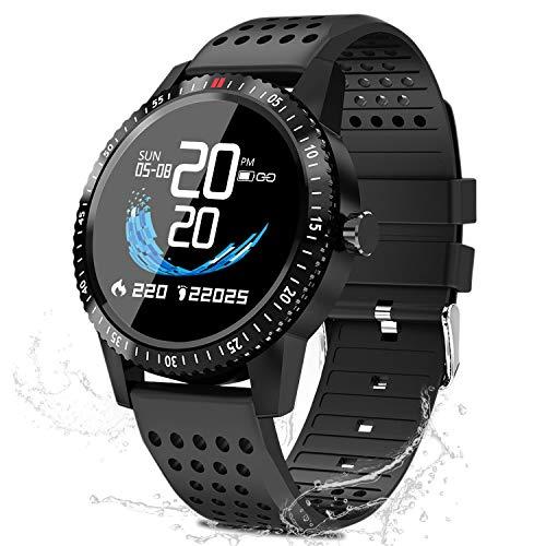 LIDOFIGO Smartwatch Fitness Uhr,blutdruck uhr mit Pulsuhren IP67 Wasserdicht...
