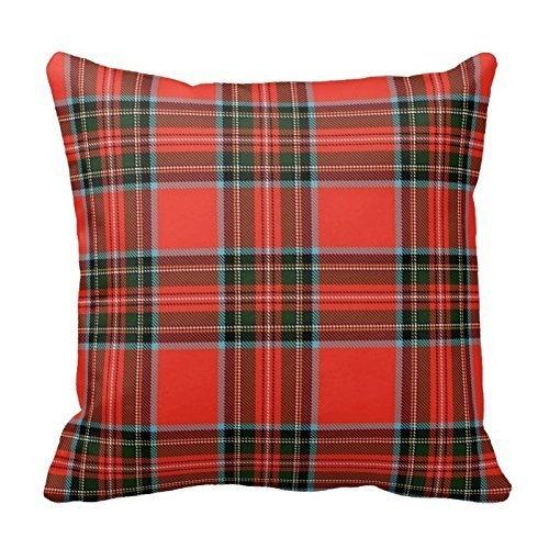 Red Plaid Throw Pillow Cover Cotton Pillowcase Cushion Cover