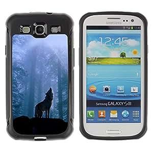 Suave TPU GEL Carcasa Funda Silicona Blando Estuche Caso de protección (para) Samsung Galaxy S3 III I9300 / CECELL Phone case / / Nature Howling Wolf /