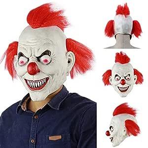 MSSJ Máscara de Payaso de hechicero de Horror de Halloween Máscara ...