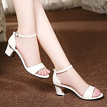 7a6f3d5a75198f LGK FA Summer Women S Sandals Sandals Summer Heel Heel Sandal Toe 34 ...
