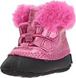Sorel Kids Baby Girl's Caribootie (Infant) Pink Ice/Black 3 M US Infant