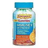 Emergen-C Immune+ Gummies (145 Count, Super Orange Flavor) Immune System Support with 500mg Vitamin C Dietary Supplement, Caffeine Free, Gluten Free (Super Orange, 145 Count)
