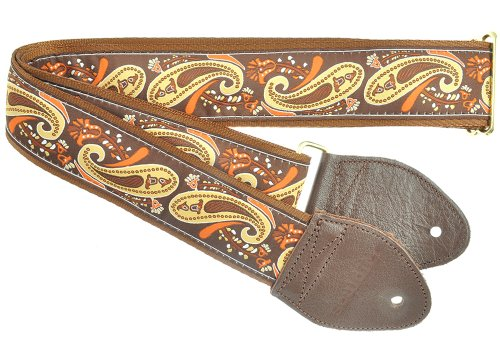 Souldier Custom GS1116NM05WB Handmade Paisley Guitar Strap,