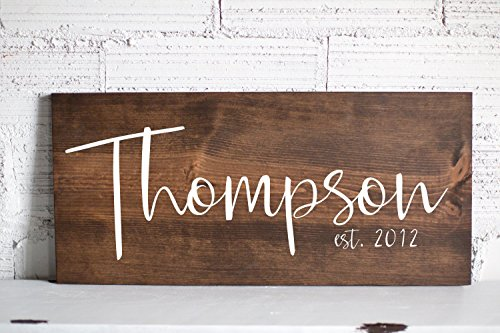 Last Name Signs for Home Family Established Wood Sign Personalized Wedding Gifts Family Wood Sign Valentines Day Gift for her