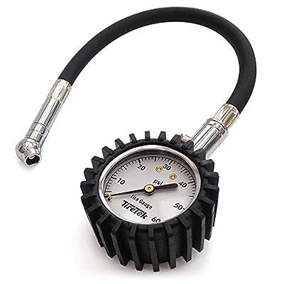TireTek Flexi-Pro Tire Pressure Gauge, Heavy Duty Best for Car & Motorcycle - 60 PSI: Automotive