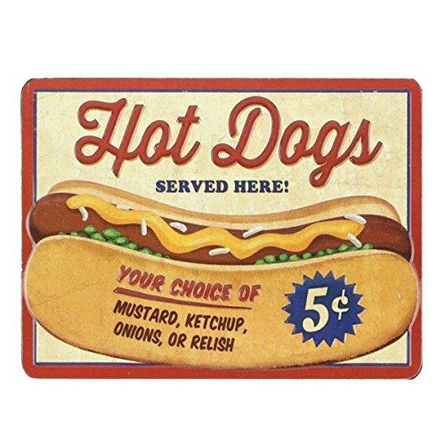 Open Road Brands Hot Dogs Embossed Metal Magnet