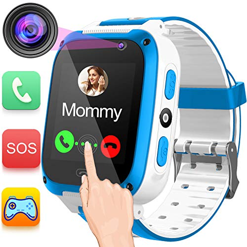 Gsm Quad Band Digital Mobile Phone - Kids Phone Smart Watch for 3-14 Years Girls Boys Toddler 2 Way Call SOS 1.54'' HD Touch Screen Camera Math Game Flashlight Digital Gizmo Learning Cellphone Wristwatch for Electronic Toys[SUPER DEALS]