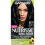 Garnier Nutrisse Ultra Color Nourishing Hair Color Creme, B11 Jet Blue Black  (Packaging May Vary)