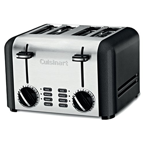 Cuisinart CPT-240TNFR Elements 4 Slice Toaster, Black refurbished