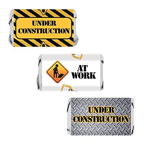 (DISTINCTIVS Under Construction Party Favors Mini Candy Bar Wrappers, 54)