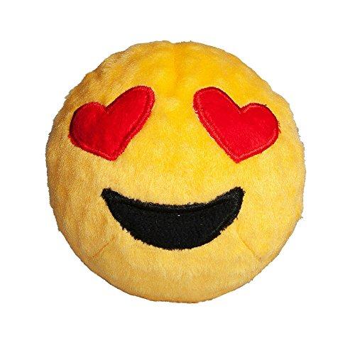 Image of fabdog Heart Eyes Emoji faball Squeaky Dog Toy (Small)