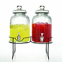 Style Setter 210996-2R-GB Springfield Beverage Dispensers with Stand, Set of 2