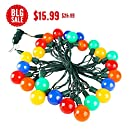 MAXINDA G40 Globe Decorative String Lights Colored,Longer Life Up to Hours,17 Ft 25 LED Commercial Grade Christmas Lights for Indoor Outdoor Use,2 Fuses Include