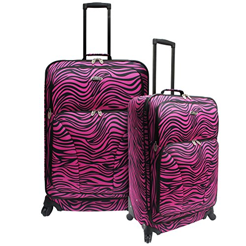 us-traveler-salerno-upright-and-backpack-2-piece-luggage-setpink-zebra