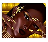 MSD Natural Rubber Mousepad A close up face head shotmodern fashion woman in vogue pose IMAGE 36371893