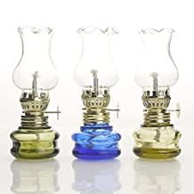 Purism Style - Glass Kerosene Lamp Lantern (Set of 3)