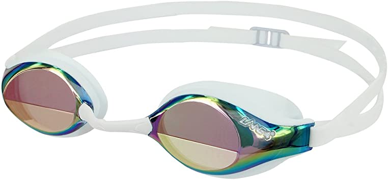 Blue LANE 4 Swim Goggle One-Piece Frame Easy Adjusting Quick Fit Lightweight Comfortable No Leaking Triathlon Open Water for Adults Women Ladies #33320 Anti-Fog UV Protection