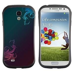 "Hypernova Slim Fit Dual Barniz Protector Caso Case Funda Para SAMSUNG Galaxy S4 IV / i9500 / i9515 / i9505G / SGH-i337 [Patrón de metal cepillado trullo Rosa""]"