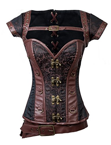 Womens Sexy Punk Corset Tops Bustier Diana Princess Cosplay Halloween Costumes
