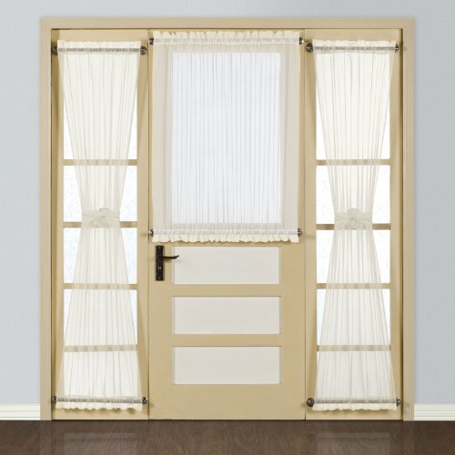 Perfect United Curtain Batiste Semi Sheer Door Curtain Panel, 54 By 40 Inch, Natural