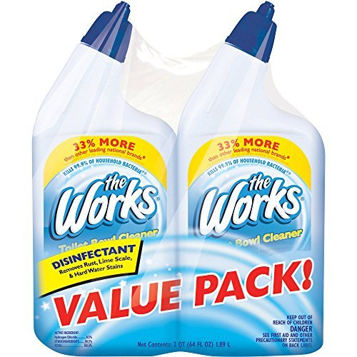 The Works Disinfectant Toilet Bowl Cleaner 33% More, 32 fl oz, (Pack of 2)