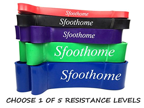 Resistance Bands Workout Exercise Bands Premium Rubber Bands Colors No Smelly Plastieic Smell Perfect for Pull-ups, Chin Ups, Muscle Ups, Ring Dips, Home Gym