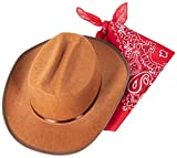 Narwhal Novelties Junior Cowboy Hat, Brown with
