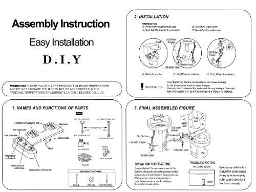 BIDET4ME, Cold Hot Spray Mechanical Toilet Seat Attachment